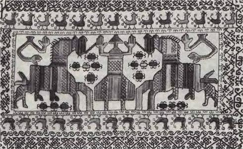 Знаково-мифологические изображения на текстиле