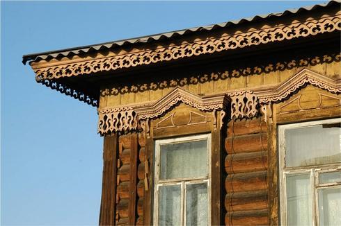 Декор фасада иркутских домов